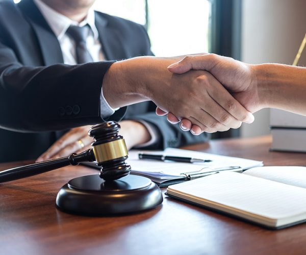 Liverpool lawyer meeting a client